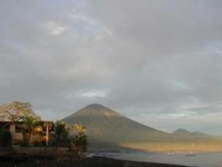 House and Mt Agung at Sunrise