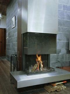 modern design fire place