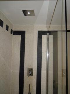 Shower with mosaics and LED light