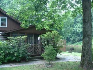 Historic Riverfont Log Cabin - The Rhododendron, Elkins