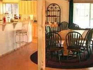 Inside Lodge, new pergo, appliances kitchen & dining