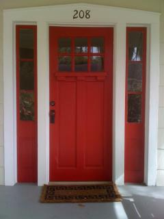 Red Door: front entrance