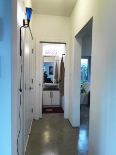 Hallway and Bathroom