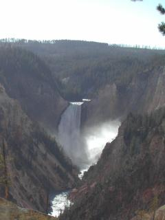 The Grand Canyon of the Yellowstone River in Yellowstone National Park