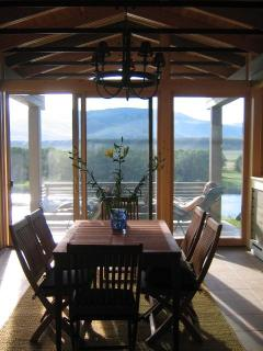 The Sun room overlooking the Yellowstone River