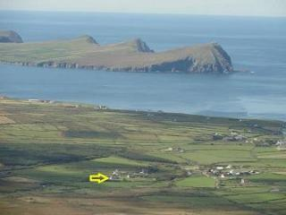 View of the area from Mount Brandon, 'The Three Sisters' in the distance.