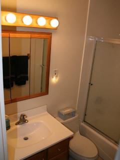 Bathroom With Full Bathtub and Shower
