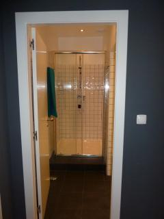 Large spacious new shower