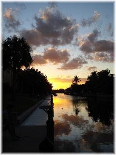 The canal at sunset.