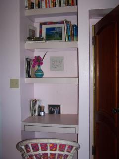 Desk nook in one bedroom