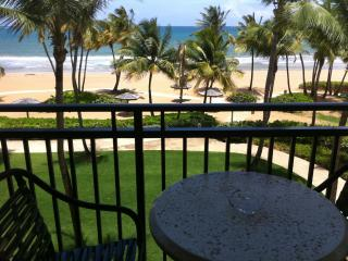 Beach front inside Wyndham Grand Resort Casino & Spa across from Rain Forest PR