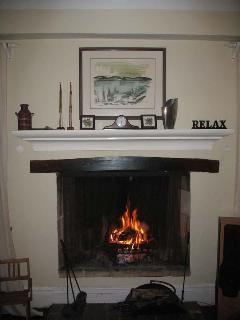 Living room fireplace- winter only obviously..