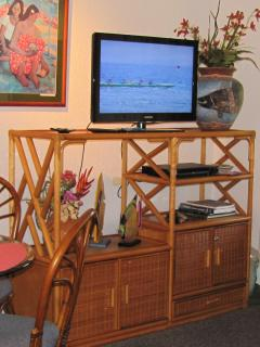 Your 32' Flat Screen TV and Entertainment Center