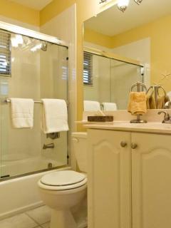 The master bedroom bathroom