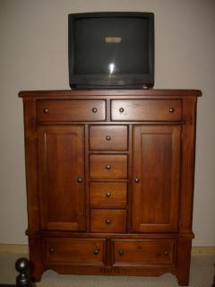 Dresser with TV For videos only in the 4th Bedroom Downstairs