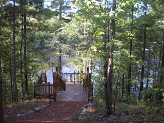 steps to the lake