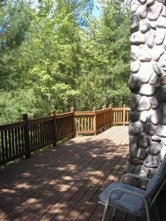 deck towards lake