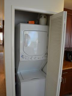 Washer and dryer in the unit for your use.