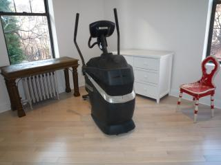 a gym in the bedroom