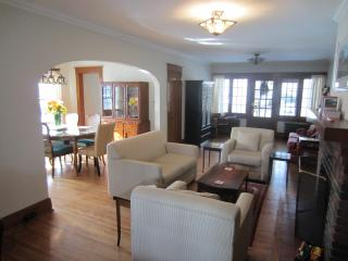 The living area is open to the dining room, perfect for mixing and mingling