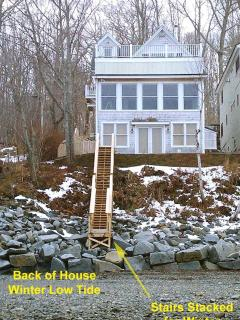 The House from the Water's Edge at Low Tide in the Winter