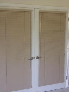 French Doors with Mini Blinds extended for privacy