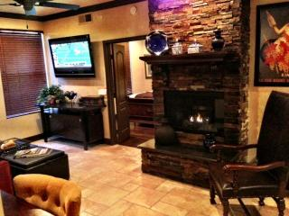 Enjoy the 50' TV & Gas Fireplace