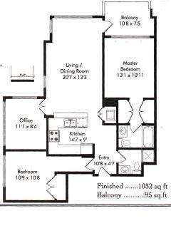 Floor plan of the Horizon Suite