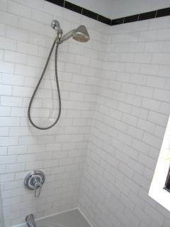 Authentic Subway Tile in the bath (but no noise!)