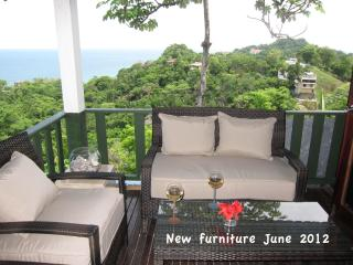 Balcony view west - new furniture June 2012