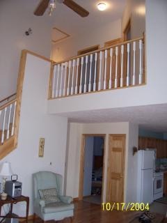 view of upper level balcony