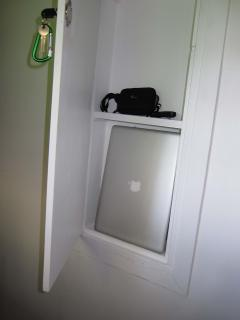 Lock box - room for a laptop, camera, etc