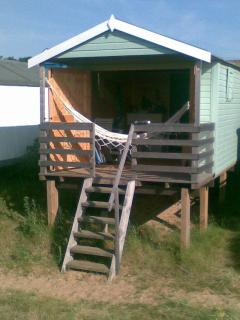Typical beach hut