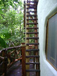 Stairway to the roof-terrace.