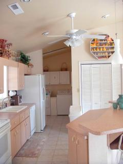 Kitchen and laundry area.