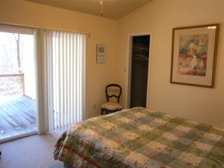 Floral room bedroom. Queen bed. Walk-in closet