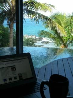 Work at home! Make your temporary office Sundowner Villa, beachfront affordable luxury, BVIs.