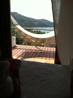 View from Coco Vista Bedroom..hammock!