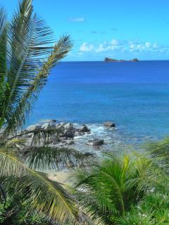 The view from the poolside deck of Sunset Watch Poolside Villa, Virgin Gorda, British Virgin Islands