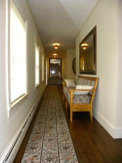 Upstairs hall leading to all three en suite, king-size bedrooms!