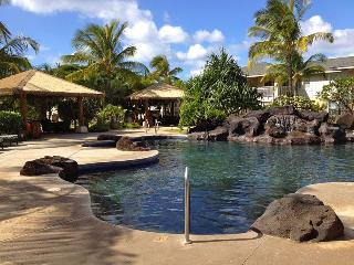 Ko Olina Villa Pool & Jacuzzi - a 2 minute walk from the villa!  Padded chaises, reservable cabanas!