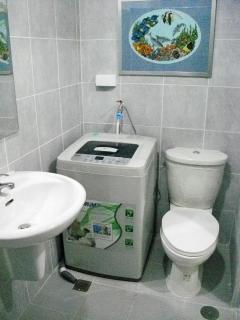 Bathroom w/ washer