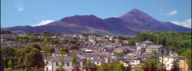 View of Westport Town with Croagh Patrick in background