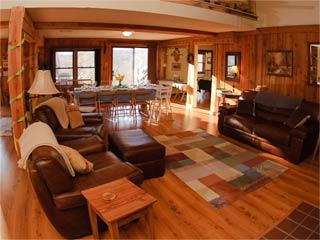 Use the living room for whatever your group needs, it's ready