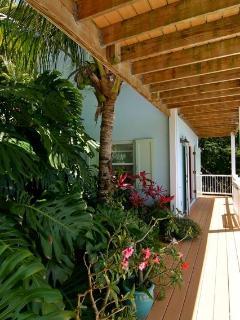 Pool level decks and garden