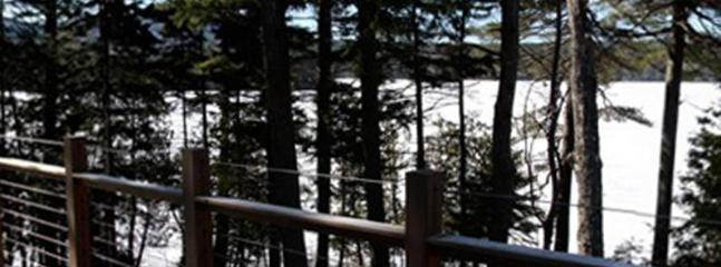 Panorama from Deck in March with Snow!