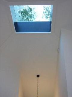 Skylight and High ceilings bring in light