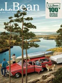 Windiana pictured in LLBean Catalog cover by Randal Ford (Windiana is above the Dog)