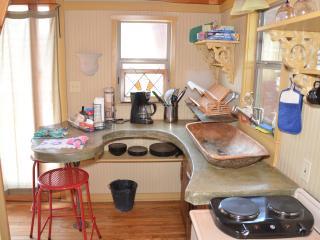Inside The Blue Loft ~ Adorable Kitchenette