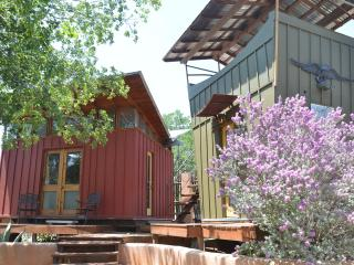 The Romantic Red Room Eco-Cabin on Lake Travis